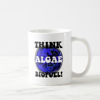 Think algae biofuel coffee mug