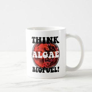 Think algae biofuel classic white coffee mug