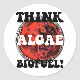 Think algae biofuel stickers