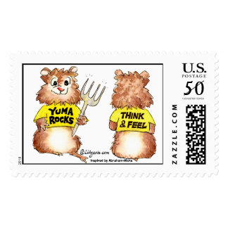 Think and Feel -Yuma Custom Postage Stamps