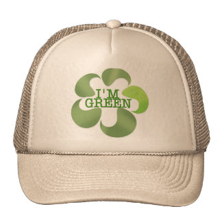 THINK AND GO GREEN TRUCKER HAT