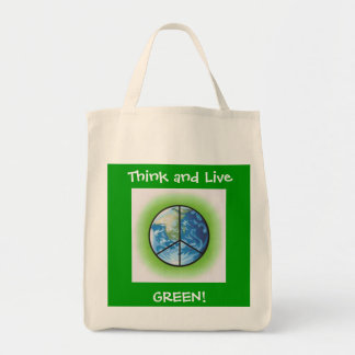 Think and Live, GREEN! Tote Bag