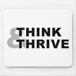 think and thrive mouse pad