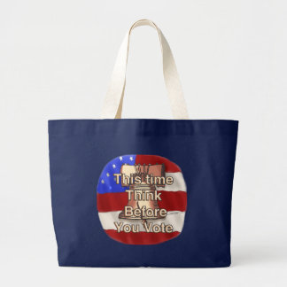 Think and Vote Large Tote Bag
