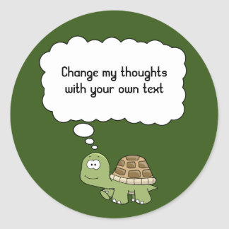 Think anything turtle sticker