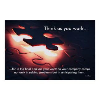 Think as you work poster