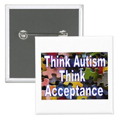 Think Autism Button