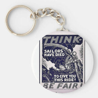 Think Be Fare Keychain