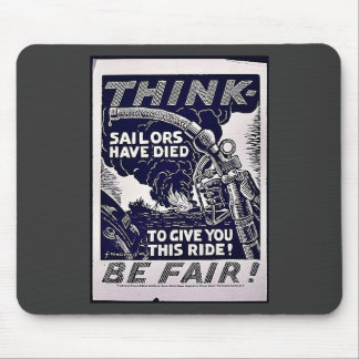Think Be Fare! Mouse Pads