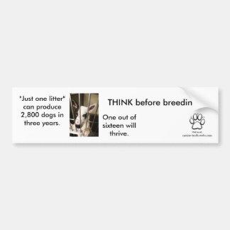 Think Before Breeding Bumper Sticker