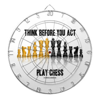 Think Before You Act Play Chess (Reflective Chess) Dartboards