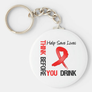 Think Before You Drink - Help Save Lives Basic Round Button Keychain