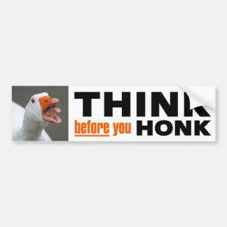 Think Before You Honk Bumper Sticker