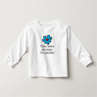 Think Before You Judge Autism Kid Long Sleeve Tee