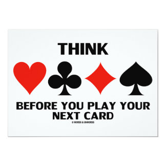 Think Before You Play Your Next Card (Card Suits)