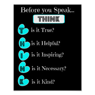THINK before you speak, Family Poster