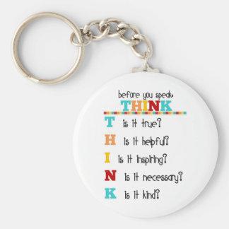 Think Before you Speak Keychain