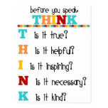 Think Before you Speak Postcard