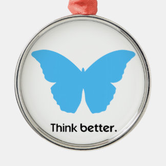 Think better with MorphOS Metal Ornament