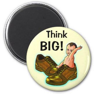 Think BIG! 2 Inch Round Magnet
