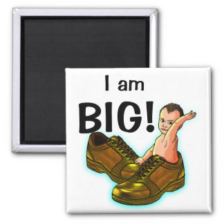 Think BIG! 2 Inch Square Magnet