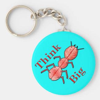 Think Big! Basic Round Button Keychain