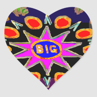 Think Big - Bigbang HighEnergy Art Heart Sticker
