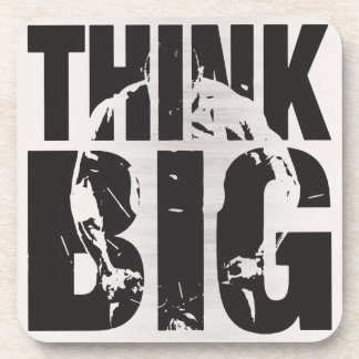 Think Big - Bodybuilding Motivation Beverage Coasters