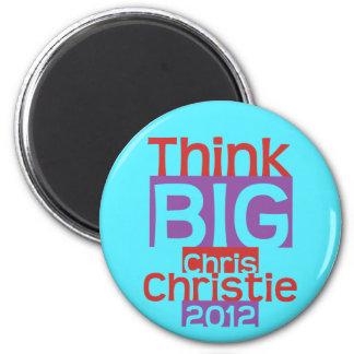 Think BIG Chris Christie 2012 - Original Designer 2 Inch Round Magnet
