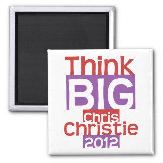 Think BIG Chris Christie 2012 - Original Designer 2 Inch Square Magnet