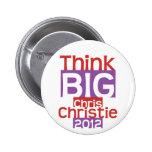 Think BIG Chris Christie 2012 - Original Designer Pinback Buttons