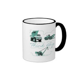 Think Big Construction T-shits and Gifts Ringer Coffee Mug
