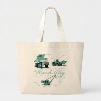 Think Big Construction Tshirts and Gifts Large Tote Bag