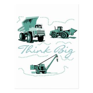 Think Big Construction Tshirts and Gifts Postcard