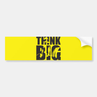 Think Big - Gym Motivation Bumper Sticker