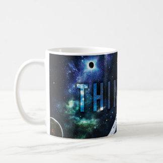 THINK BIG - Space and Universe Motivational Coffee Mug