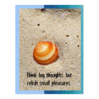 Think big thoughts, but reli... postcard