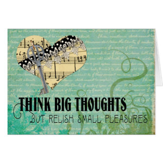 Think Big Thoughts Card