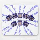 Think Big toy blocks in blue. Mouse Pad