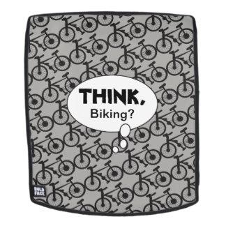 Think, Biking Silhouette Pattern Backpack