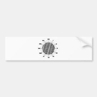 Think Binary Clock (Geek Humor) Bumper Sticker