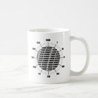 Think Binary Clock (Geek Humor) Coffee Mug