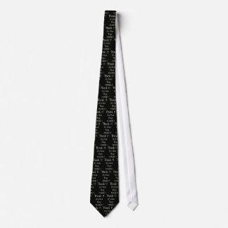 Think black neck tie
