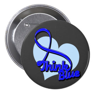 Think Blue Rectal Cancer Pin