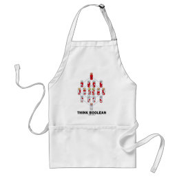 Think Boolean (Hasse Diagram) Adult Apron