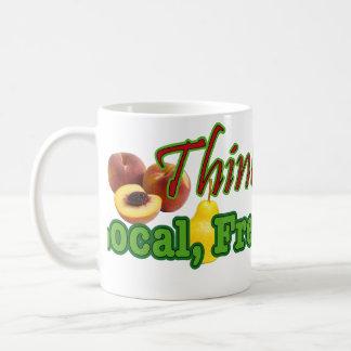 Think, Buy Local, Fresh, Organic Coffee Mugs