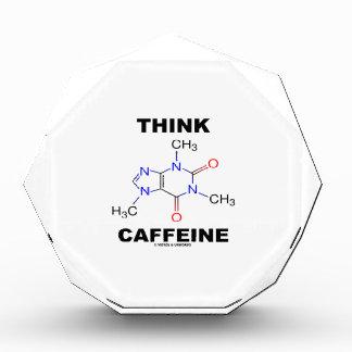 Think Caffeine (Caffeine Chemical Molecule) Acrylic Award