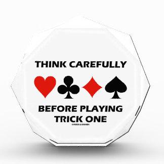 Think Carefully Before Playing Trick One (Bridge) Award