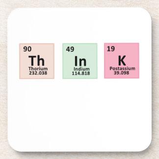 Think - Chemistry Drink Coaster