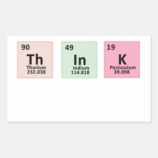 Think - Chemistry Rectangular Sticker